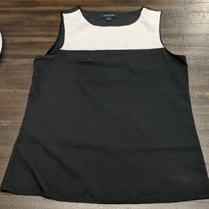 Black and white sleeveless